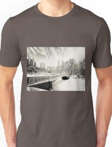 Winter - Central Park - Bow Bridge - New York City Unisex T-Shirt
