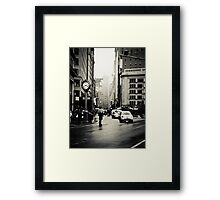 Rain on 5th Avenue - New York City Framed Print
