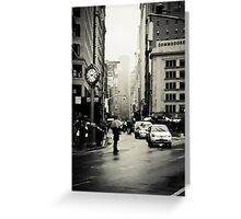 Rain on 5th Avenue - New York City Greeting Card