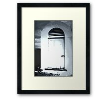 White Aged Framed Print