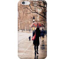 Rain - Washington Square - New York City iPhone Case/Skin
