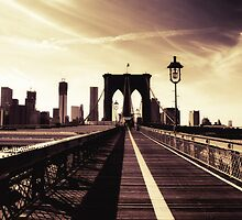 Brooklyn Bridge - New York City by Vivienne Gucwa