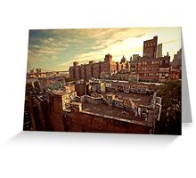 Rooftop Graffiti - Chinatown - New York City Greeting Card