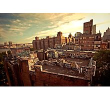 Rooftop Graffiti - Chinatown - New York City Photographic Print