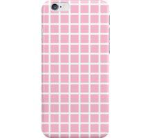 Pastel Pink Grid  iPhone Case/Skin