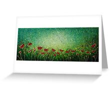 Poppy Sensation. Contemporary Modern, Unique. Greeting Card