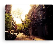 Sunlit Street - Greenwich Village - New York City Canvas Print