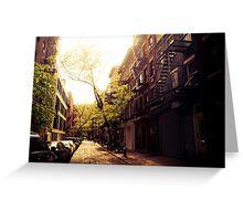 Sunlit Street - Greenwich Village - New York City Greeting Card