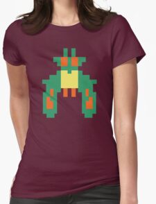 Space Bug Classic 80s Arcade  Womens Fitted T-Shirt