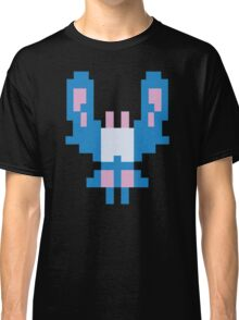 Blue Space Bug Classic 80s Arcade  Classic T-Shirt