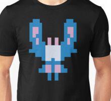 Blue Space Bug Classic 80s Arcade  Unisex T-Shirt