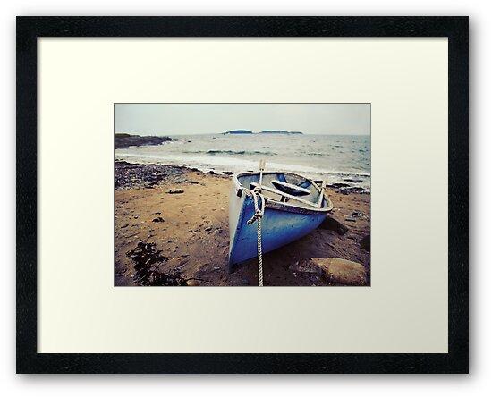 Blue Boat - Coastal Maine by Sarah Beard Buckley