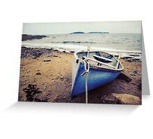 Blue Boat - Coastal Maine Greeting Card