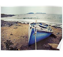 Blue Boat - Coastal Maine Poster