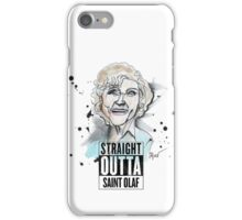 Straight Outta Saint Olaf  iPhone Case/Skin