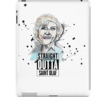 Straight Outta Saint Olaf  iPad Case/Skin