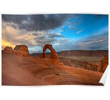 Delicate Arch Sunset Poster