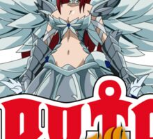 fairy tail erza scarlet titania anime manga shirt Sticker