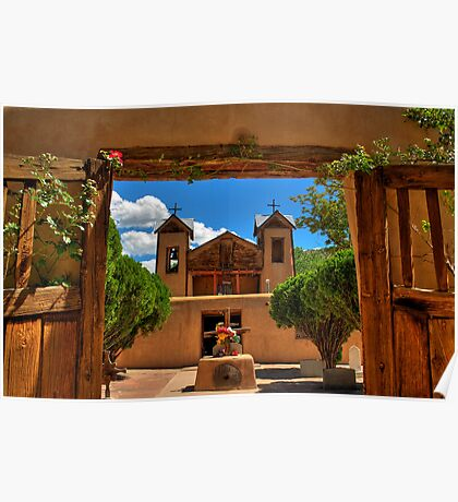 Gates to Santuario de Chimayó Church Poster