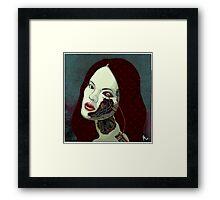 robot girl Framed Print