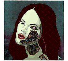 robot girl Photographic Print