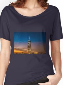 New York City Sunset and Skyline Women's Relaxed Fit T-Shirt