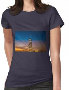 New York City Sunset and Skyline Womens Fitted T-Shirt