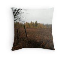 Field of Tamaracks Do Not Cross Throw Pillow