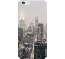 Snow - Chrysler Building - New York City - Dawn iPhone Case/Skin