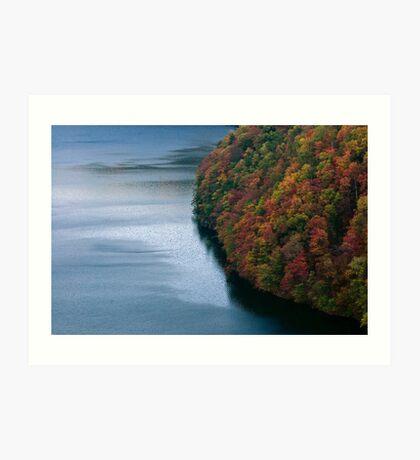 Blue Water in Autumn Art Print