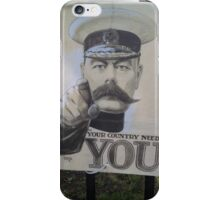 "Lord Kitchener Poster ""Your Country Needs You"" iPhone Case/Skin"