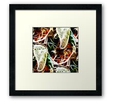 Korean Dinner in Abstract Framed Print