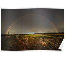 Double Rainbow on Harlow Common Poster