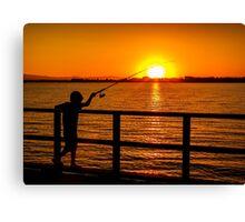 The Joy of Fishing! Canvas Print