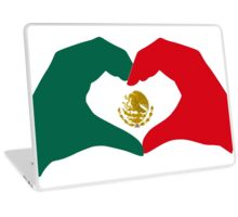 I Heart Mexico Patriot Flag Series  Laptop Skin