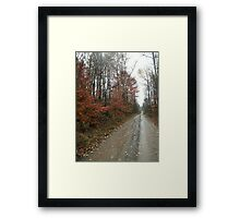 Take the long way home, take the long way home Framed Print