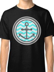 Chevron Anchor Smile Illusion Classic T-Shirt