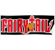 fairy tail logo anime manga shirt Poster