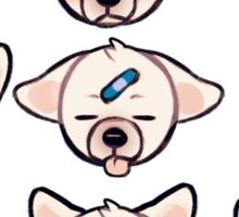 sighs the dog: expressions Sticker