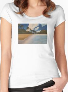 Paradise Beach Women's Fitted Scoop T-Shirt