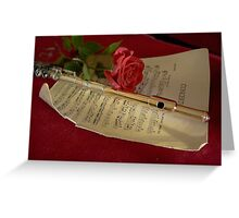 Soft Light and Music Greeting Card