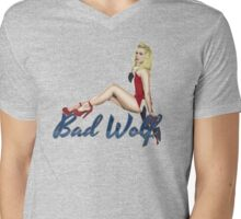 Blonde in a Union Jack...A specific one Mens V-Neck T-Shirt
