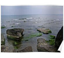 Stormy day on Lake Ontario Poster
