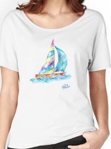 Sailboat no splots by Jan Marvin Women's Relaxed Fit T-Shirt