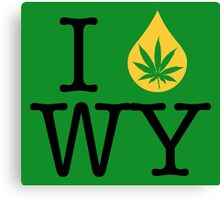 I Dab WY (Wyoming) Weed Canvas Print