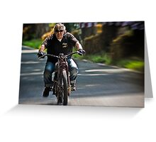 Guys and bikes Greeting Card