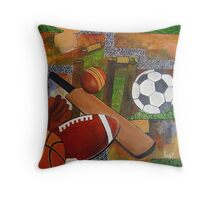 sports collage Throw Pillow