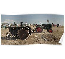 Vintage Case & Monktells Tractors  Poster