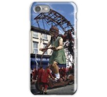 Giant Girl Riding a Scooter, Liverpool iPhone Case/Skin