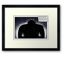 In the headlights Framed Print